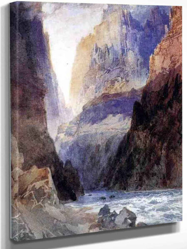 Zion Canyon By Thomas Moran