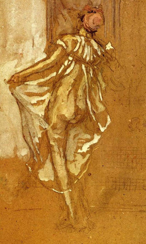 A Dancing Woman In A Pink Robe, Seen From The Back By James Abbott Mcneill Whistler Art Reproduction