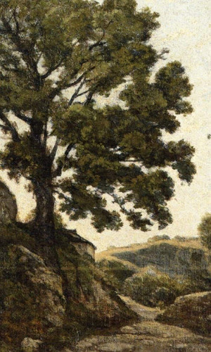 A Large Tree Path In The Countryside By Henri Joseph Harpignies, Aka Henri Harpignies Art Reproduction