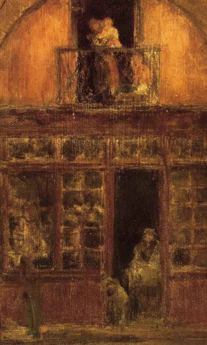 A Shop With A Balcony By James Abbott Mcneill Whistler American 1834 1903