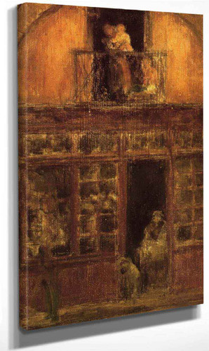 A Shop With A Balcony By James Abbott Mcneill Whistler