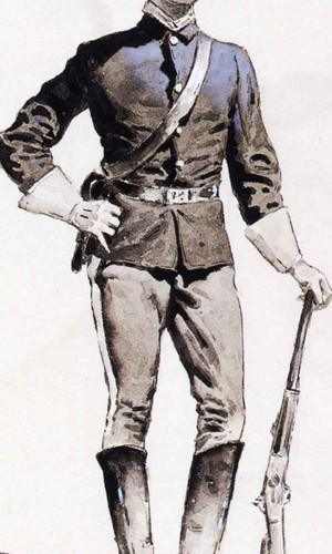 A Trooper By Frederic Remington