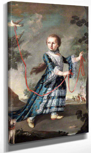 A Young Girl Of The Gradenigo Family With A Dove By Francesco Guardi