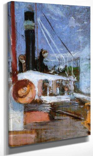 Aboard A Steamer By John Twachtman