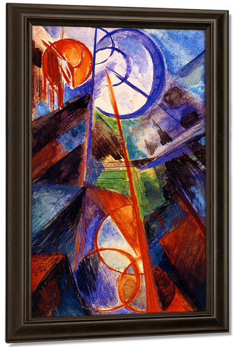 Abstract Mountain Landscape With Fabulous Beast By Franz Marc By Franz Marc