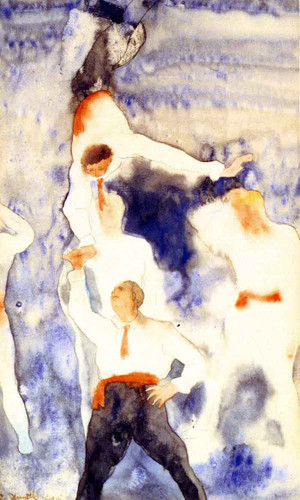 Acrobats Balancing Act By Charles Demuth By Charles Demuth