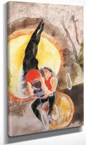 Acrobats By Charles Demuth By Charles Demuth