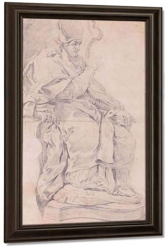Alexander Viii Blessing By Charles Joseph Natoire By Charles Joseph Natoire