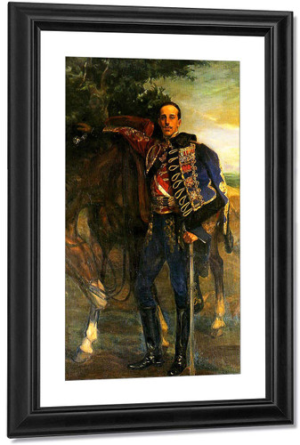 Alfonso Xiii Con Uniforme De Húsar De Pavia By Jose Mongrell Torrent(Spanish, 1870 1937) Art Reproduction