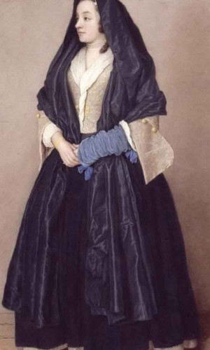 An Elegant Young Woman In Maltese Costume By Jean Etienne Liotard
