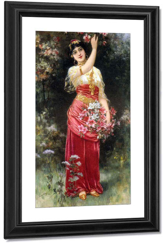 An Oriental Flower Girl By Emile Eisman Semenowsky