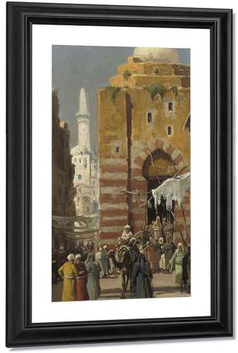 An Oriental Street Scene By Frederick Goodall By Frederick Goodall