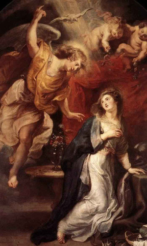 Annunciation 23 By Peter Paul Rubens By Peter Paul Rubens