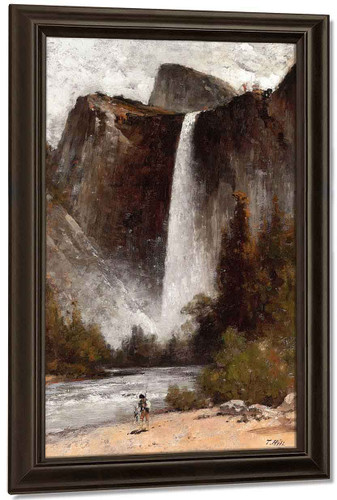 At The Foot Of Bridal Veil By Thomas Hill By Thomas Hill