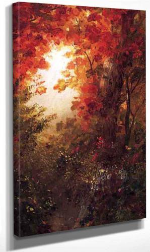 Autumn Landscape, Vermont By Frederic Edwin Church Art Reproduction