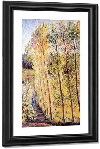 Avenue With Poplar Trees By Nicolas Tarkhoff