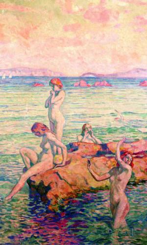 Bathers By Theo Van Rysselberghe