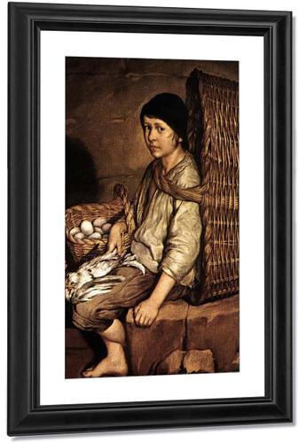 Boy With A Basket By Giacomo Ceruti