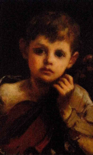 Boy With A Violin By William Morris Hunt By William Morris Hunt