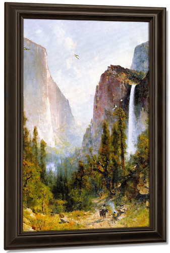 Bridal Veil Fall, Yosemite Valley By Thomas Hill By Thomas Hill Art Reproduction