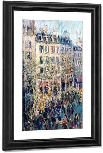 Busy Paris Street By Nicolas Tarkhoff