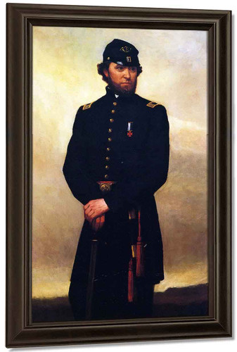 Captain William Madigan By William Morris Hunt By William Morris Hunt