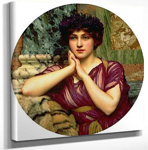 A Classical Beauty 2222 By John William Godward Art Reproduction