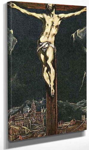 Christ In Agony On The Cross By El Greco By El Greco