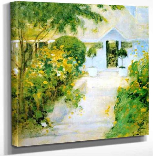 A Garden Path By John Twachtman Art Reproduction
