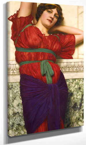Contemplation By John William Godward By John William Godward