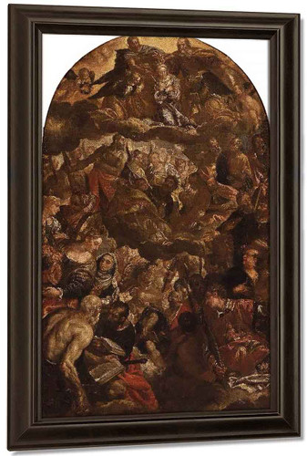 Coronation Of The Virgin With Saints And Angels By Paolo Veronese