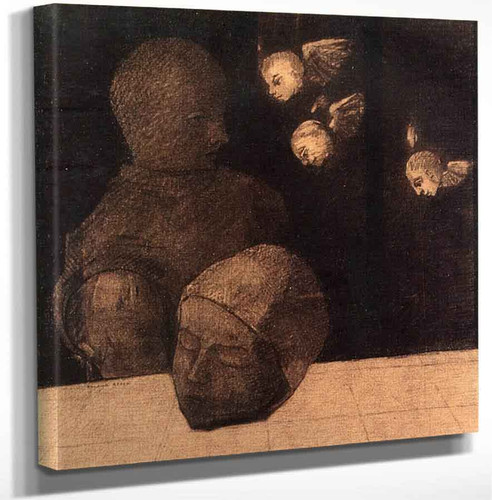 A Severed Head By Odilon Redon Art Reproduction