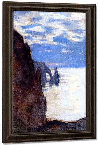 Etretat, The Needle Rock And Porte D'aval By Claude Oscar Monet Art Reproduction