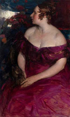Female Portrait By Abram Efimovich Arkhipov