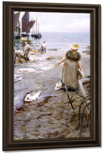 Fish Market In Saint Ives By Anders Zorn
