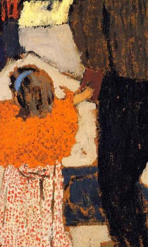 Girl Wearing An Orange Shawl By Edouard Vuillard
