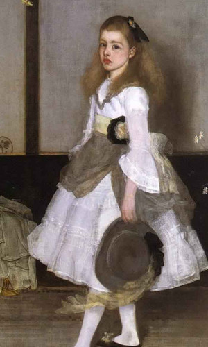 Harmony In Grey And Green Miss Cicely Alexander By James Abbott Mcneill Whistler American 1834 1903