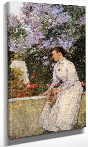 In The Garden By Frederick Childe Hassam By Frederick Childe Hassam