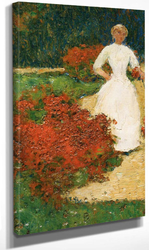 In The Luxembourg Gardens By Frederick Childe Hassam By Frederick Childe Hassam