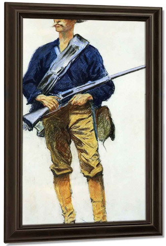 Infantry Soldier By Frederic Remington
