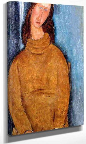 Jeanne Hebuterne In A Yellow Jumper By Amedeo Modigliani By Amedeo Modigliani