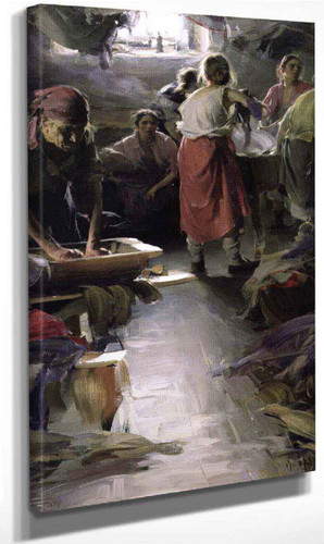 Laundresses By Abram Efimovich Arkhipov
