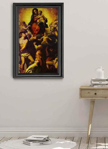 Madonna And Child With St. Sebastian By Correggio By Correggio