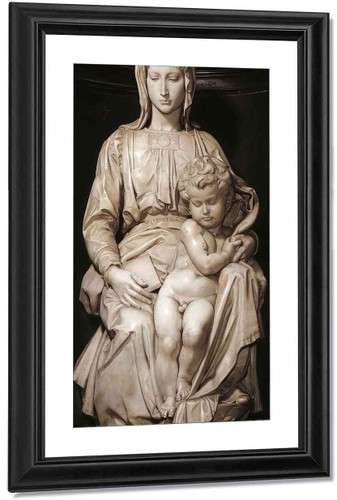 Madonna And Child By Michelangelo Buonarroti By Michelangelo Buonarroti