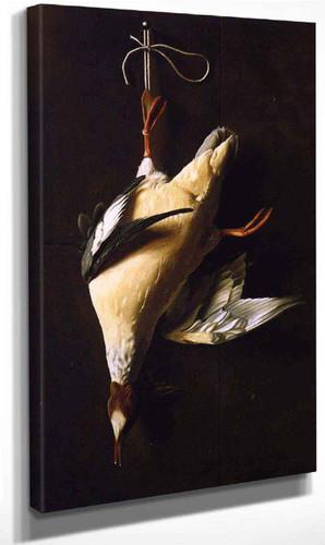 Merganser By William Michael Harnett By William Michael Harnett
