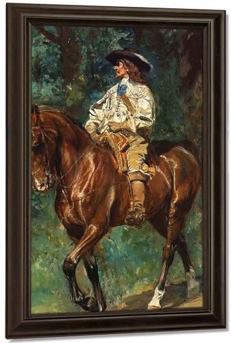 Mounted Cavalier By Jean Louis Ernest Meissonier