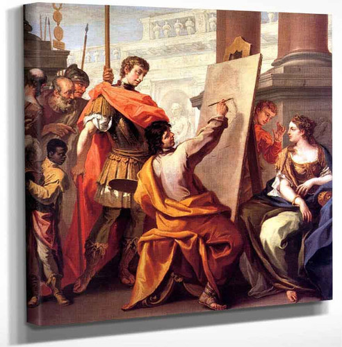 Apelles Making A Portrait Of Pancaspe By Sebastiano Ricci Art Reproduction