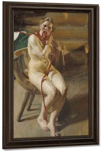 Nude Woman Arranging Her Hair By Anders Zorn