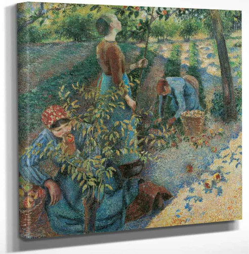 Apple Picking1 By Camille Pissarro Art Reproduction