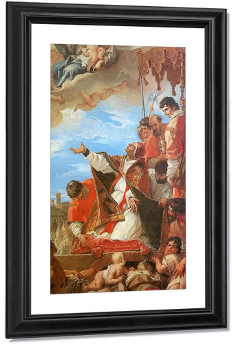 Pope Gregory The Great Before The Virgin By Sebastiano Ricci